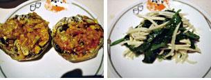 蒸し物・豆苗と冬竹の子炒め